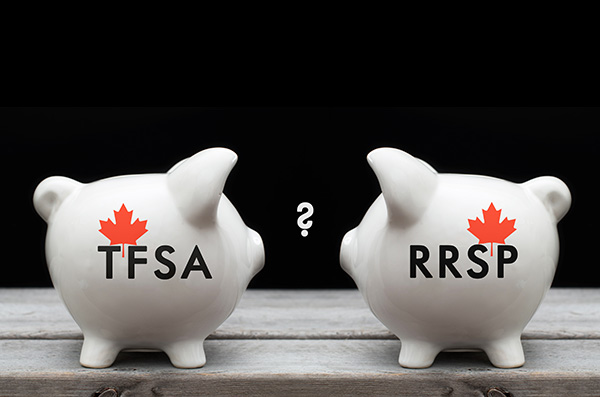 Financial concept of TFSA or RRSP
